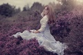 Картинка девушка, платье, лаванда, Miss Froggi, *-*