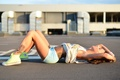 Картинка лето, девушка, настроение, релакс, волосы, тело, ножки, tattoo, fitness