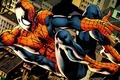 Картинка comics, spider-man, marvel, new york city