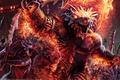 Картинка Dragonborn barbarians, война, мечи, steve argyle, cg wallpapers