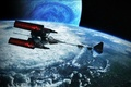 Картинка планеты, avatar, пандора, звездолет, фантастика, космос