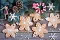 Картинка выпечка, зима, десерт, ёлка, сладкое, игрушки, печенье, снежинки, New Year, Christmas, Anna Verdina, ветки, ель, ...