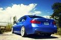 Картинка f30, BMW, rearside, blue, бмв, 335i, wheels, vossen