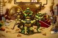 Картинка Рафаэль, Донателло, Леонардо, Микеланджело, Teenage Mutant Ninja Turtles, черепашки ниндзя