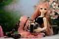 Картинка красавица, кукла, книга, волосы