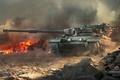 Картинка пламя, война, дым, танк, World of tanks, WoT, мир танков, британский танк, Centurion Mk