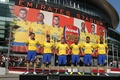 Картинка Walcott, alex oxlade-chamberlain, Arsenal, Арсенал, Fly, Carl Daniel Jenkinson, стадион, ramsey, форма, Gibbs, эмирейтс, Emirates, ...