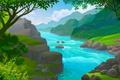 Картинка берег, вода, река, природа