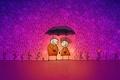 Картинка Любовь, зонт, дождь