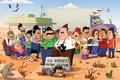 Картинка мультфильм, юмор, Fox, Bordertown, Приграничный городок