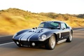 Картинка Shelby, Superformance, Coupe, front motion, Black car, Cobra, 2009, Daytona, Shelby Cobra Daytona Coupe