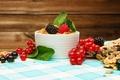 Картинка ягоды, завтрак, мёд, fresh, смородина, ежевика, berries, breakfast, мюсли