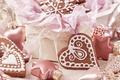 Картинка снежинки, сердце, игрушки, еда, сердца, печенье, сердечки, сладости, Christmas, десерт, выпечка, праздники, New Year, глазурь, ...