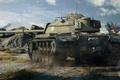 Картинка World of Tanks, американский, средний, танк, M48A1 Patton