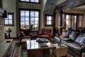 Картинка дизайн, стол, диван, интерьер, кресла, камин, где-то в горах
