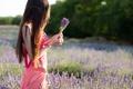 Картинка лето, цветы, девушка, поле