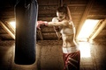 Картинка woman, boxing, boxing bag to hit