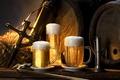 Картинка Пиво, пена, бочки