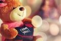 Картинка игрушка, плюшевый, I love you, мишка, сердце
