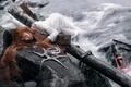 Картинка Shipwrecked, octopus, conceptual, castaway
