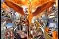 Картинка Огонь, Крылья, Небожители