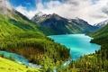 Картинка лес, горы, Кучерлинское озеро, Горный Алтай, Россия