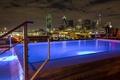 Картинка city, город, дома, вечер, pool, высотки, бассейн.