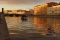 Картинка Канал, катер, закат, вода, санкт-петербург, питер