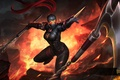 Картинка девушка, цепи, убийца, art, Silhouette, Heroes of Newerth, Black Legion, Hexa