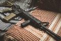 Картинка оружие, ткань, AR-15, BCM, штурмовая винтовка