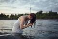 Картинка волосы, веснушки, в воде, Kate, Jesse Herzog