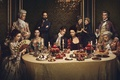 Картинка food, supper, powerful, Caitriona Balfe, TV series, rich, necklace, man, oppai, meal, time travelers, elite ...