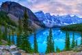 Картинка Банф, горы, деревья, Moraine, Canada, озеро, Banff National Park, лес, скалы, Канада, камни