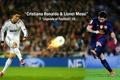 Картинка Real Madrid CF, wallpaper, players, sport, football, FC Barcelona, Cristiano Ronaldo, legends, Lionel Messi