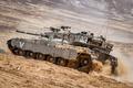 Картинка Израиля, Меркава, боевой, песок, танк, поле, Merkava, основной