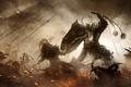 Картинка Art, Diablo 3, Blizzard Entertainment, Fan Art, Battle, Video Game, Reaper of Souls, Diablo III: ...