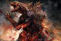 Картинка кровь, монстр, Годзилла, Godzilla