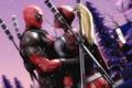 Картинка fan art, sword, marvel, Lady Deadpool, Deadpool