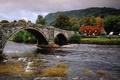 Картинка дом, мост, река