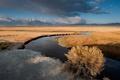 Картинка sunrise, clouds, Owens River