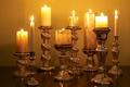 Картинка подсвечник, свечи, свет, огонь