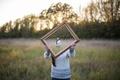 Картинка девушка, зеркало, иллюзия, Isaac Gautschi, Good Framing