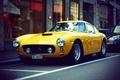 Картинка car, ретро, обоя, ferrari, автомобиль, феррари, yellow, retro, желтая, wallpapers