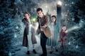 Картинка взгляд, актеры, халат, дети, зима, BBC, пиджак, мужчина, шар, женщина, фонари, Doctor Who, мальчик, Одиннадцатый ...
