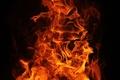Картинка лицо, маленькая выдержка, огонь