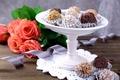 Картинка шоколад, розы, лента