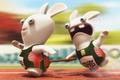 Картинка Rayman raving rabbids tv party, кролики, вантус, спринт