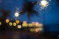 Картинка lights, glass, globes, night, raining, drops