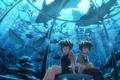 Картинка Аниме, аквариум, рыбы