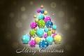 Картинка елка, новый год, праздник, merry christmas, шары, украшения, снежинки
